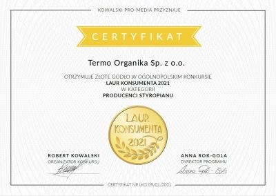 Termo Organika - Laur Konsumenta - nagroda styropian