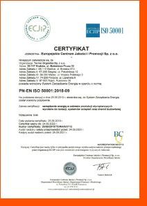 Termo Organika uzyskała certyfikat ISO 50001